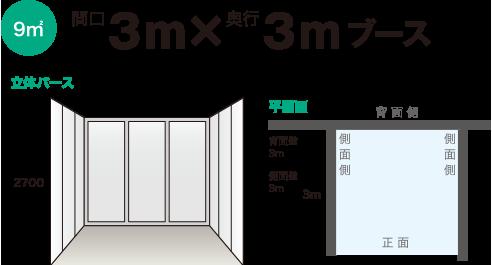 間口3mX奥行3mブース